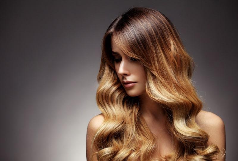 model with dark blond hair