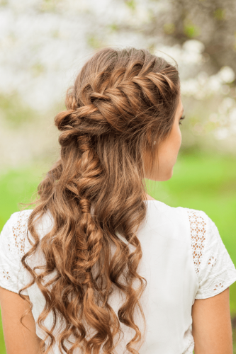 girl with braided updo